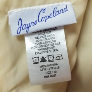 Jayne Copeland Dresses - Champagne Junior Bridesmaid dress Girls sz 10